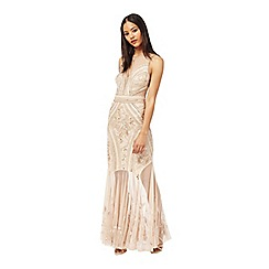 Miss Selfridge - Nude embellished maxi dress