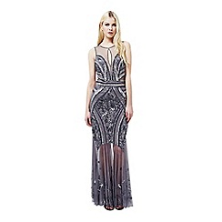 Miss Selfridge - Pewter embellished maxi dress