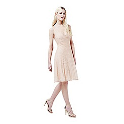 Miss Selfridge - Nude embellished flippy dress