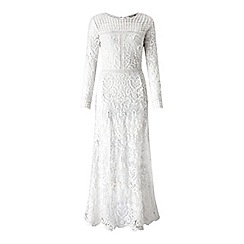 Miss Selfridge - White mixed lace dress