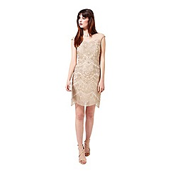 Miss Selfridge - Cream embellished bodycon