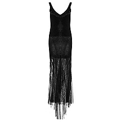 Miss Selfridge - Black embellished maxi dress