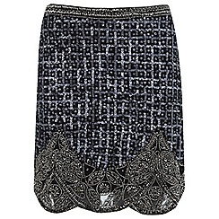 Miss Selfridge - Grid embellished skirt