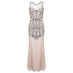 Miss Selfridge - Nude fleur maxi dress