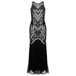 Miss Selfridge - Black boudica maxi dress