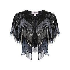 Miss Selfridge - Fringe cape jacket