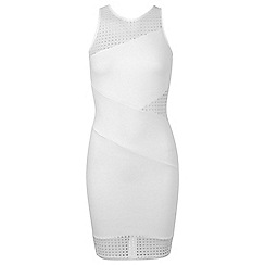 Miss Selfridge - White crochet bodycon
