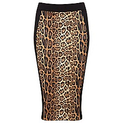 Miss Selfridge - Animal print pencil skirt
