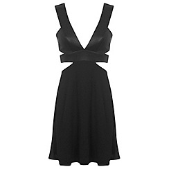 Miss Selfridge - Plunge skater dress