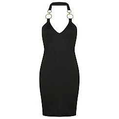 Miss Selfridge - Plunge trim bodycon dress