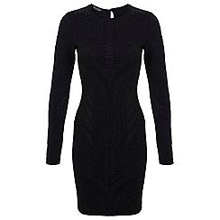 Miss Selfridge - Black cavier bodycon dress