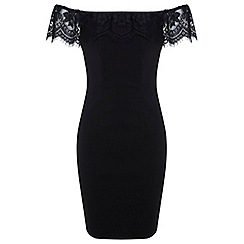 Miss Selfridge - Lace bardot bodycon dress