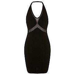 Miss Selfridge - Mesh insert bodycon dress