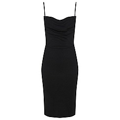Miss Selfridge - Cowl neck corset bodycon dress