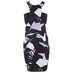 Miss Selfridge - Graphic printed bodycon dress