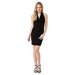Miss Selfridge - Black cowl halter dress