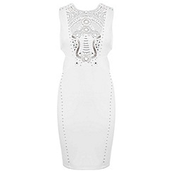 Miss Selfridge - Cream embellished dress