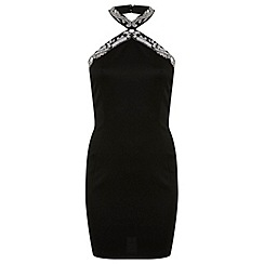 Miss Selfridge - Cross neck embellished bodycon