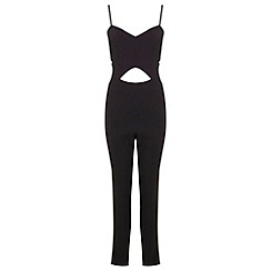 Miss Selfridge - Black cut out jumpsuit
