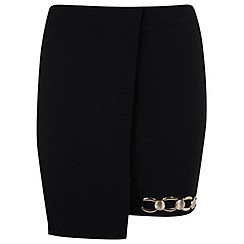 Miss Selfridge - Mini skirt with gold trim