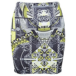 Miss Selfridge - Printed mini skirt