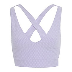 Miss Selfridge - Lilac plunge cut out crop top