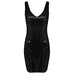 Miss Selfridge - Black maddison bodycon dress