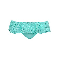 Miss Selfridge - Crochet frill bikini bottom