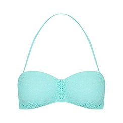 Miss Selfridge - Crochet bandeau bikini top