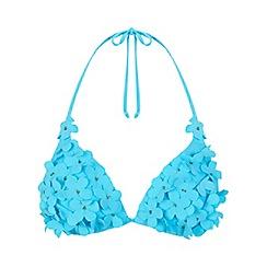 Miss Selfridge - 3d flower triangle bikini top
