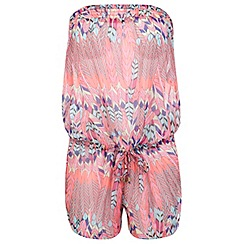 Miss Selfridge - Feather print playsuit