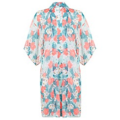 Miss Selfridge - Mint tropical kimono