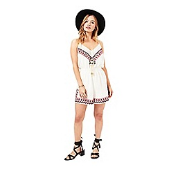 Miss Selfridge - Petites tribal playsuit