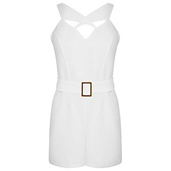 Miss Selfridge - Petites cross strap playsuit