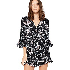 Miss Selfridge - Multicoloured floral wrap petite playsuit