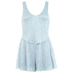 Miss Selfridge - Petites mint overlay playsuit