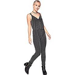 Miss Selfridge - Petite glitter jumpsuit