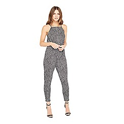 Miss Selfridge - Petite print jersey jumpsuit