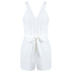 Miss Selfridge - Petites judo wrap playsuit