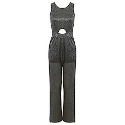 Miss Selfridge - Petites gold shimmer jumpsuit