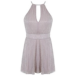 Miss Selfridge - Petites pink shimmer playsuit