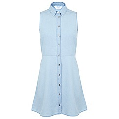Miss Selfridge - Petite chambray shirt dress