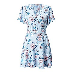Miss Selfridge - Petites floral wrap dress