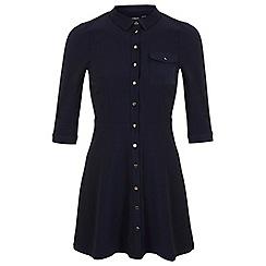Miss Selfridge - Petites navy shirt dress