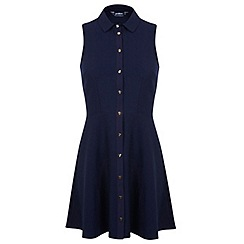 Miss Selfridge - Petite navy shirt dress