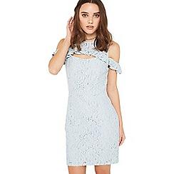 Miss Selfridge - Blue frill petite lace dress