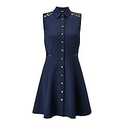 Miss Selfridge - Petites navy lace shirt dress