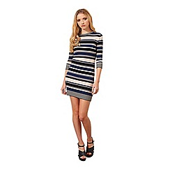 Miss Selfridge - Petites stripe knitted dress