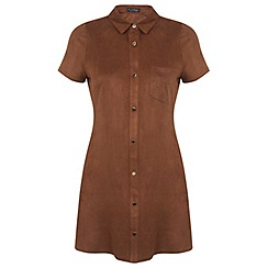 Miss Selfridge - Petites suedette shirt dress