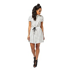 Miss Selfridge - Petites check dress